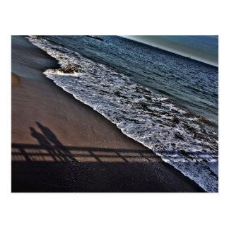 Me en u op Strand Briefkaart