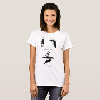 Me en van Florida SUP Paddleboarding Manatee T Shirt