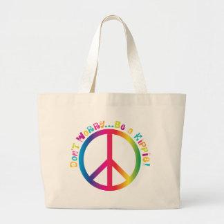Me maak niet ongerust… een Hippie ben Canvas Tas