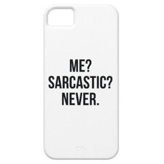 Me? Sarcastisch? Nooit Barely There iPhone 5 Hoesje