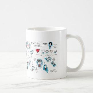 Me zonder u - Valentijn - Liefde Koffiemok