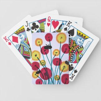 Med van Nappen blomster sommerfugler Bicycle Speelkaarten