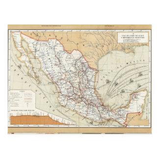 Mededeling en Vervoer van Mexico Briefkaart