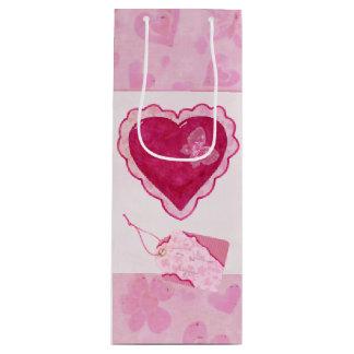 Media van de Bloesems van Valentijn de Schattige Wijn Cadeautas