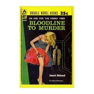 medio-jaren '50 Bloodline om pulpdekking moord Acryl Muurkunst