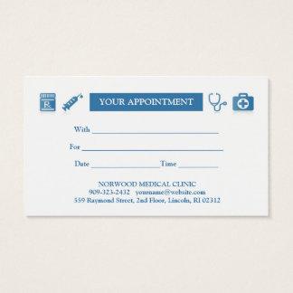 Medisch Visitekaartje w/Appointment