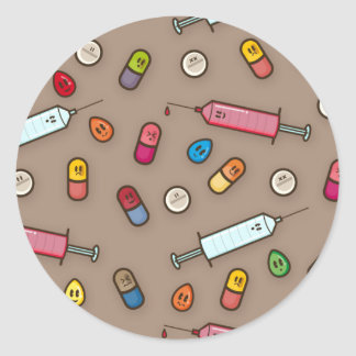 medische waanzinstickers ronde sticker