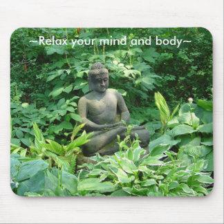 Meditatie die Vreedzame Tuin Mousepad mediteert Muismat