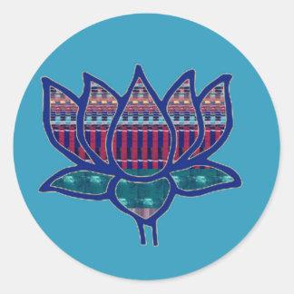 Meditatie van de Yoga van de Bloem van Lotus de Ronde Sticker