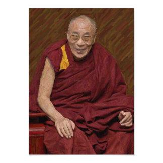 Meditatie Yog van het Boeddhisme van Dalai Lama Kaart