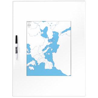 Mediterrane Kaart Whiteboard