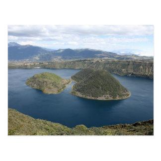 Meer Cuicocha - een Vulkanisch Meer van de Krater Briefkaart