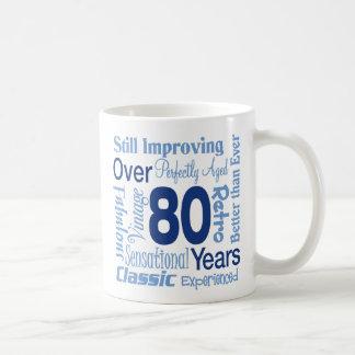 Meer dan 80 Jaar tachtigste van de Verjaardag Koffiemok