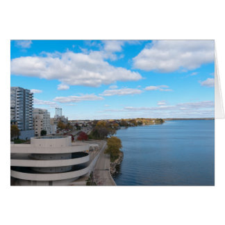 Meer Monona en Madison Wisconsin Kaart
