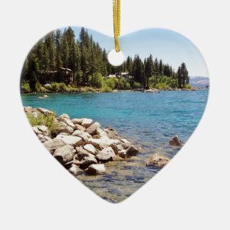 Meer Tahoe Nevada Keramisch Hart Ornament