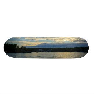 Meer van de Blauwe Zonsondergang Ozarks 18,1 Cm Old School Skateboard Deck