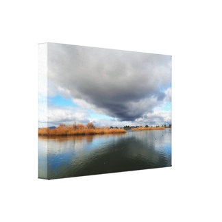 Meer Wendouree in de Winter Canvas Print
