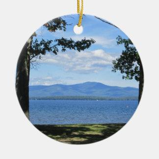Meer Winnipesaukee Rond Keramisch Ornament