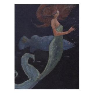 Meermin en de Blauwe Vissen Briefkaart