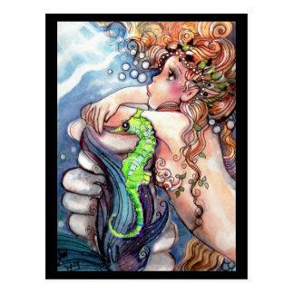 Meermin & Heldergroen Briefkaart SeaHorse