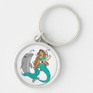 Meermin met Dolfijn Sleutelhanger