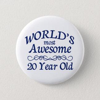 Meest geweldige 20 Éénjarigen van de wereld de Ronde Button 5,7 Cm