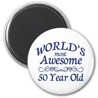 Meest geweldige 50 Éénjarigen van de wereld de Ronde Magneet 5,7 Cm