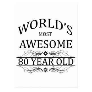 Meest geweldige 80 Éénjarigen van de wereld de Briefkaart
