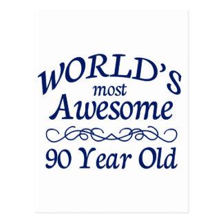 Meest geweldige 90 Éénjarigen van de wereld de Briefkaart