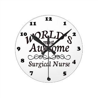 Meest geweldige Chirurgische Verpleegster van de w Ronde Klok