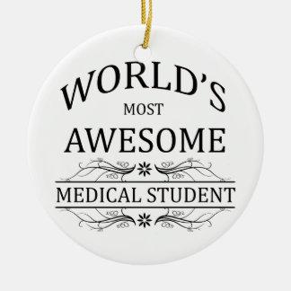 Meest geweldige Medische Student van de wereld de Rond Keramisch Ornament