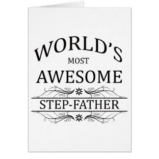 Meest geweldige Stiefvader van de wereld de Wenskaart