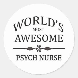 Meest geweldige Verpleegster Psych van de wereld Ronde Sticker
