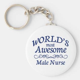 Meest geweldige Verpleger van de wereld de Basic Ronde Button Sleutelhanger