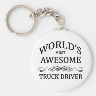 Meest geweldige Vrachtwagenchauffeur van de wereld Basic Ronde Button Sleutelhanger