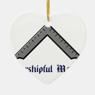 meester keramisch hart ornament