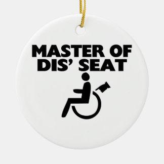 Meester van Dis de Rolstoel van Seat Rond Keramisch Ornament