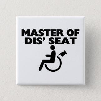 Meester van Dis de Rolstoel van Seat Vierkante Button 5,1 Cm