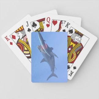 Megalodon die een walvis eten speelkaarten