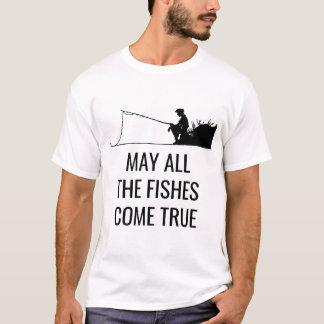 Mei alle vissen komt ware grappig t shirt
