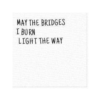 Mei de Bruggen brand ik Licht de Manier Canvas Print