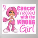 Meisje 1 van het Gevecht van Kanker van de borst Poster