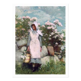 Meisje en Laurier door Winslow Homer Briefkaart