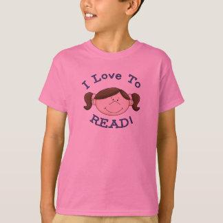 Meisje I Liefde om T-shirts en Giften te lezen