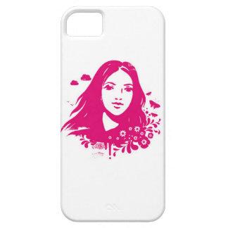 Meisje in Vector iPhone 5 Case-Mate Hoesjes
