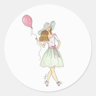 Meisje met ballon - stickers