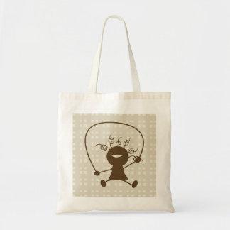 Meisje met een Canvas tas van het Springtouw