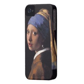 Meisje met een iphone 4 van de Oorring van de Pare iPhone 4 Cases