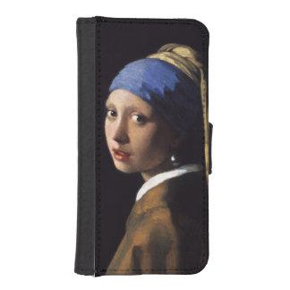 Meisje met een Oorring van de Parel door Johannes iPhone 5 Portemonnee Case