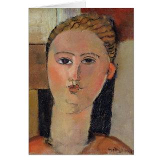 Meisje met rood haar, 1915 briefkaarten 0